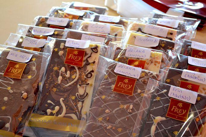 6.「フレイ」でオリジナルのチョコ作り体験!