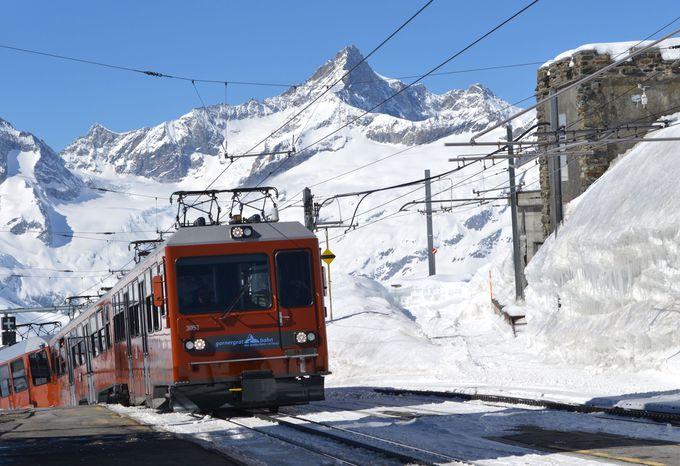 午前の観光 〜ゴルナーグラート鉄道