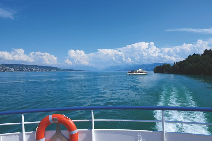 午後の観光 〜リマト川&チューリッヒ湖クルーズ
