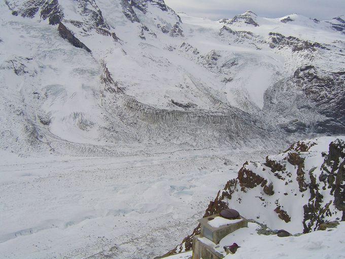 グレッシャーパラダイス展望台から見える氷河