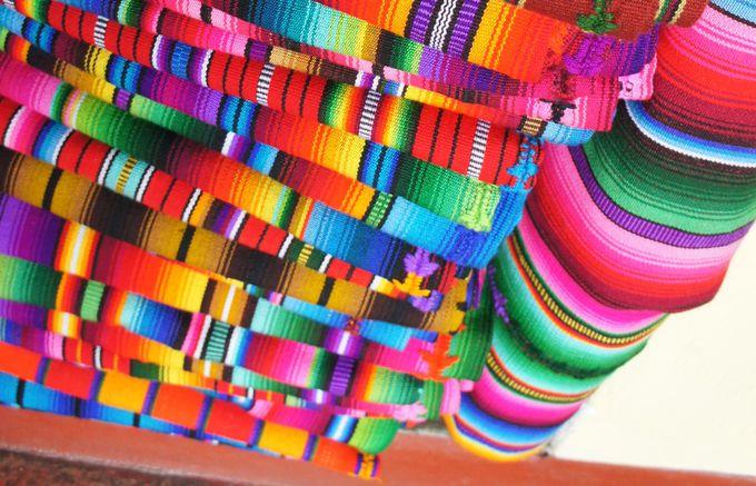 グアテマラカラーの布細工