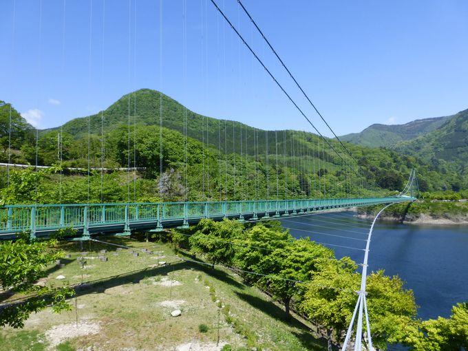 橋の長さはなんと320m!まずはもみじ谷大吊橋へ