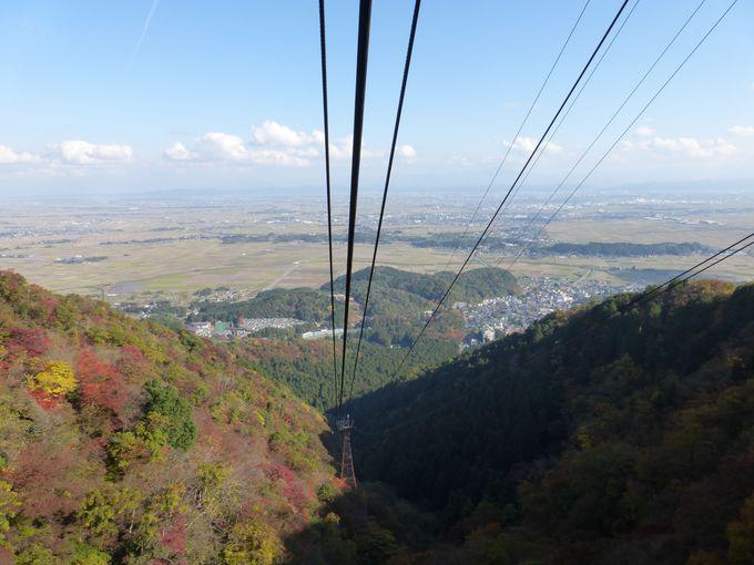 弥彦山ロープウェイに乗って秋の空中散歩へ!