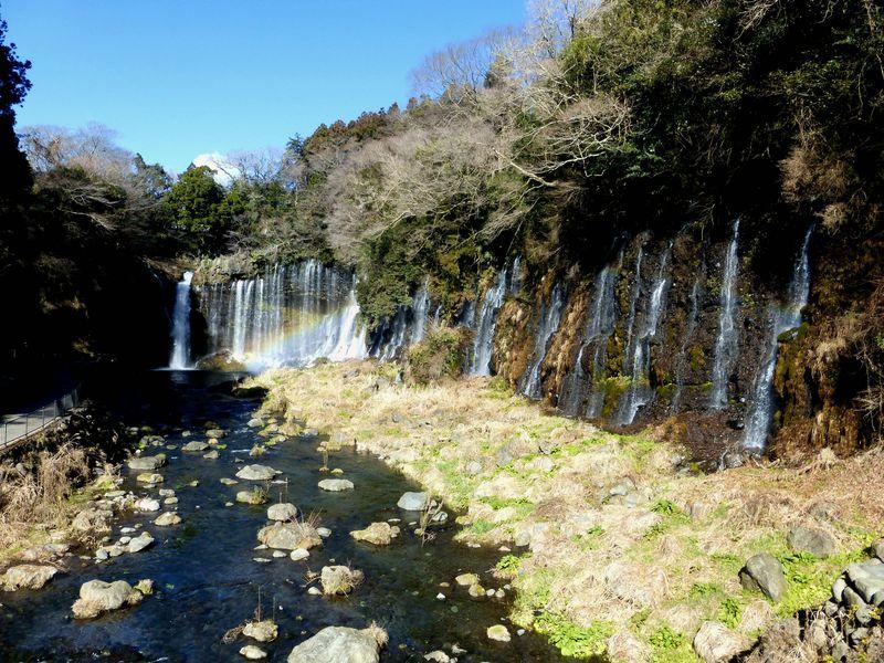 美しい虹の見える滝!富士宮にある白糸の滝を見に行こう
