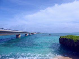 宮古島「池間大橋」を望む美ら海ビーチ!西の浜&お浜ビーチ