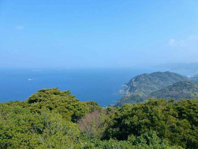 長崎最南端・野母崎から軍艦島を望む!「権現山展望公園」