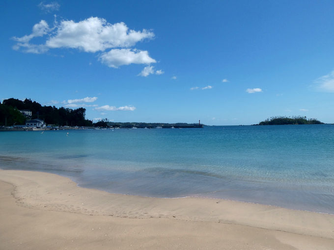 離島に来たならやっぱり海もね!快水浴場百選「小田の浜」