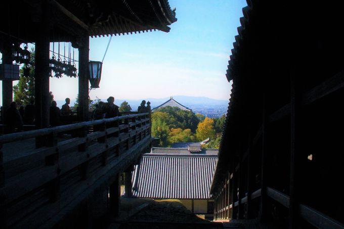 眺望が素晴らしい!山の斜面に建つ「東大寺・二月堂」