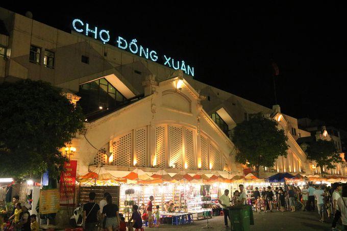 ハノイのドンスアン市場!旧市街の街歩き&ナイトマーケットの起点