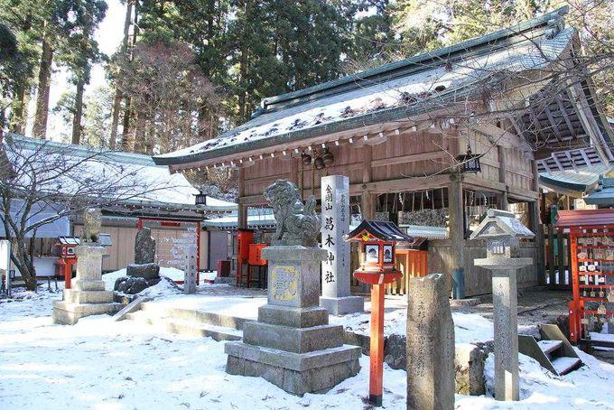 最高峰の近くに建つ葛木神社