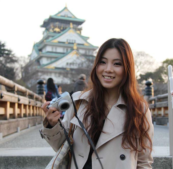 大阪城を背景に写真を撮るなら…