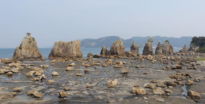 南紀の顔、橋杭岩は絶好の撮影スポット
