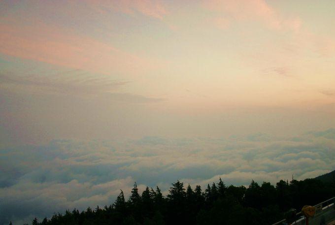 遥かなる雲海の連なり まるで蓮の花が重なりあうよう
