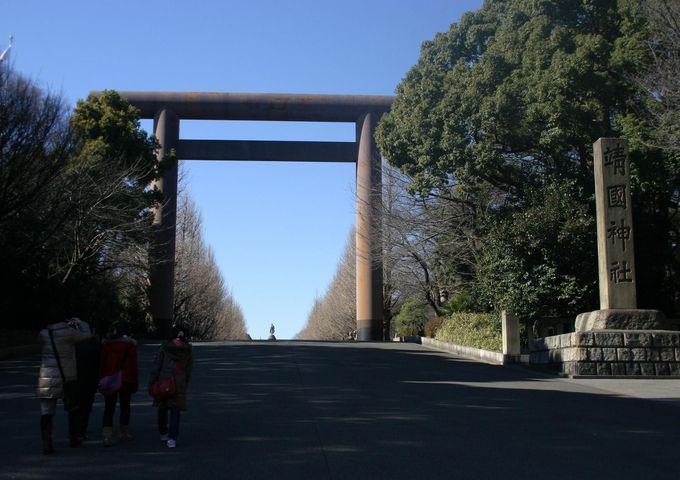 千鳥ヶ淵と並ぶ桜の名所、東京・九段下の靖国神社