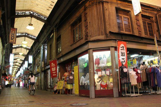 阿倍野界隈に残る古いアーケードの商店街