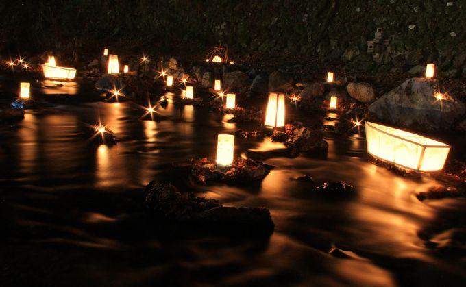 平安歌人の恋の色を映し出す優しい光【貴船川の光のオブジェ】