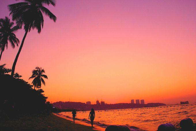 音もなく、穏やかに暮れてゆく空 バンコクから一番近い楽園