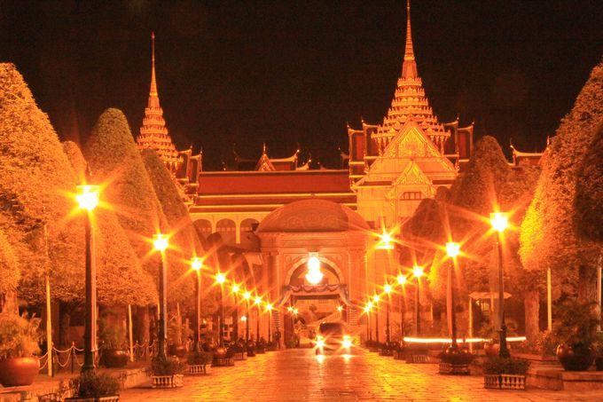 気品のある明かりが連なる王宮
