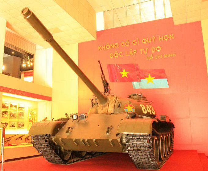 ベトナム戦争を終結させた戦車も展示