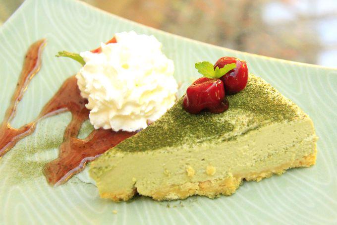 京都人もびっくり!濃厚な抹茶味「グリーンティ・チェリー・パイ」