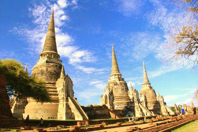 3人の王が眠る守護寺院「ワット・プラ・シーサンペット」