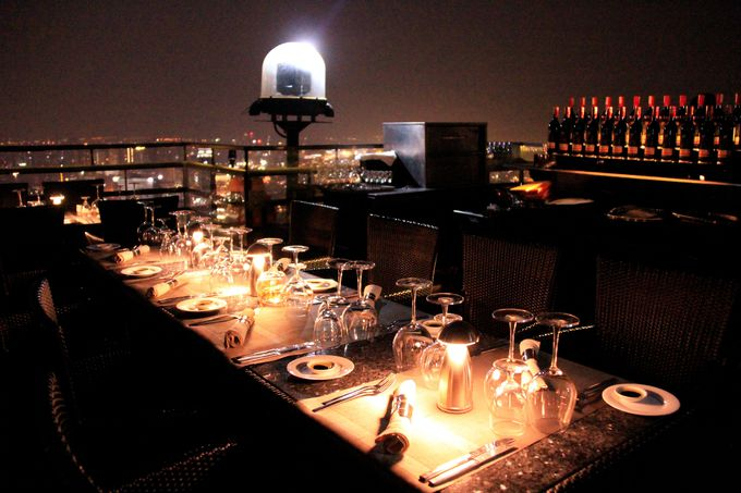 ゆったり静かな気品のある天空のレストラン