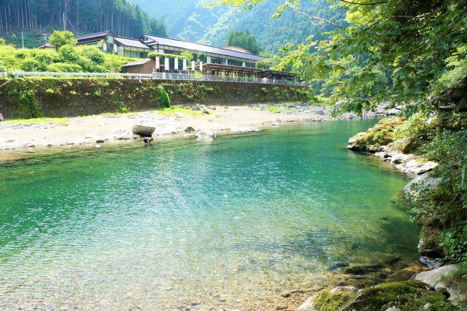 奈良県天川村の「みたらい渓谷」