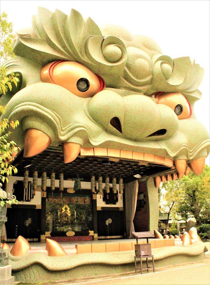 大きさに圧倒!「難波八阪神社」の獅子殿