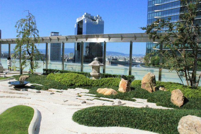 無料の空中庭園!グランフロント大阪の「テラスガーデン」/大阪ステーションシティの「和らぎの庭」