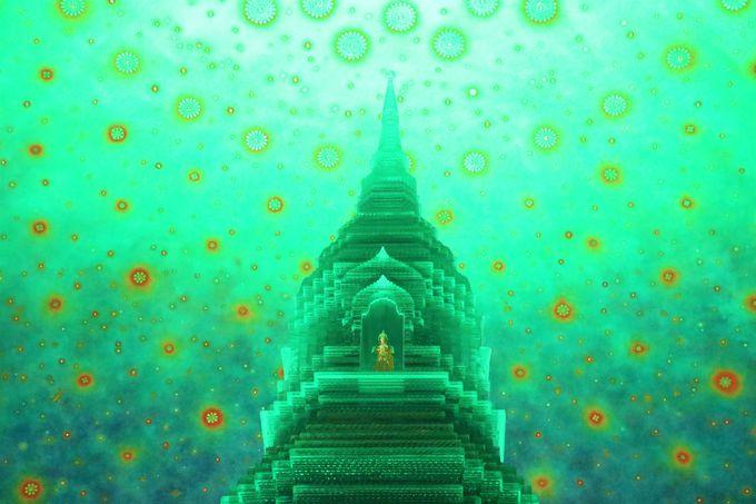 タイ・バンコクの寺院「ワット・パークナム」観光のポイント