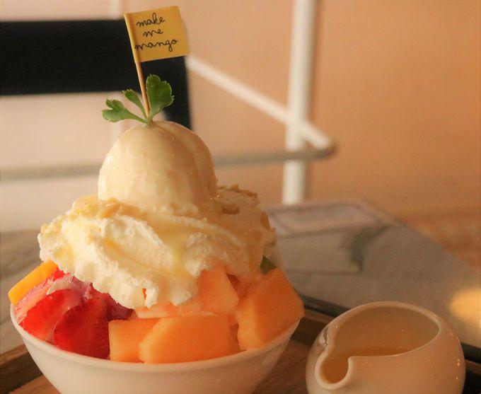 タイかき氷は濃厚な甘さ!イチゴ、チョコレート、ミックスフルーツのフレーバー