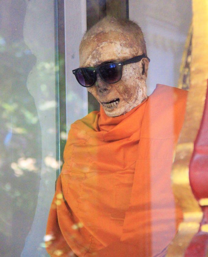 心霊スポット?タモリがミイラに?サングラスのミイラ僧