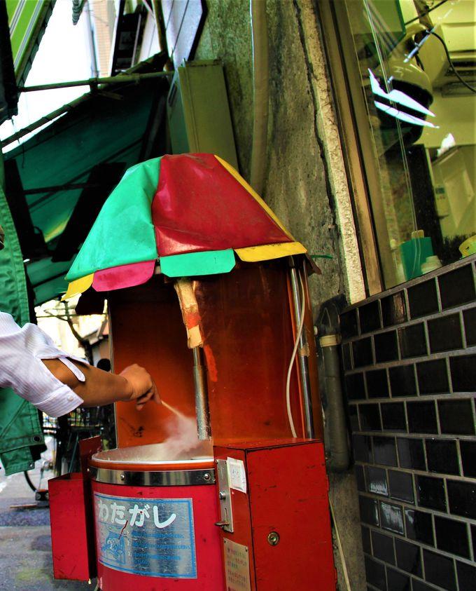 昭和レトロがいっぱい!「駄菓子屋・村田食品店」「サトちゃんムーバー」「わたあめ製造機」