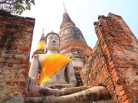 タイの勝運パワースポット!ワット・ヤイ・チャイ・モンコン遺跡に登ろう