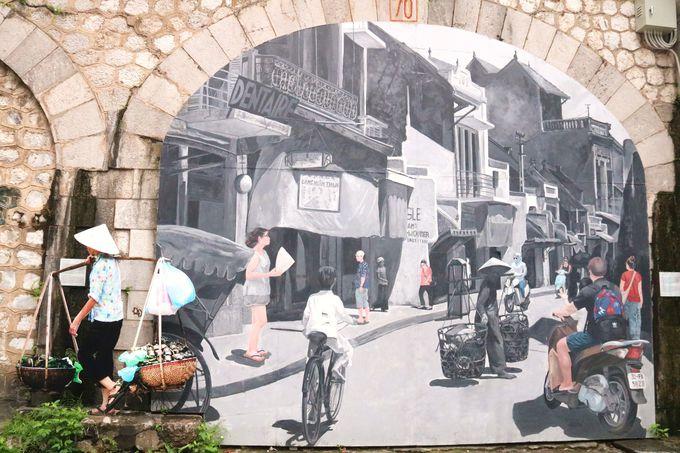 ハノイの新たなインスタスポットが誕生!「壁画ストリート」