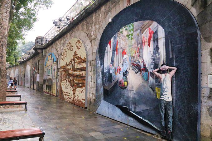 壁画ストリートでアートなハノイの旅!