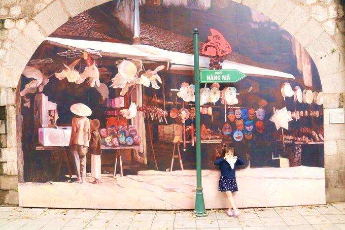 子供や女子に人気!絵画ストリートでフォトジェニックな写真
