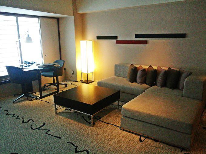 お部屋は和を取り入れた贅沢な空間
