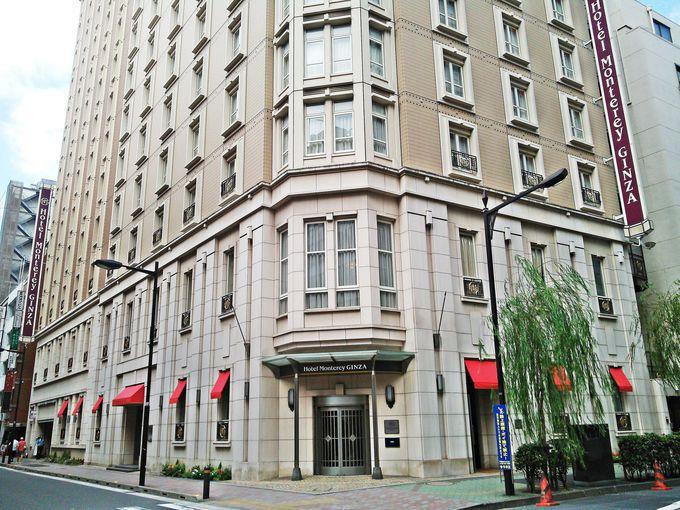 柳通りに似合うヨーロピアンなホテル