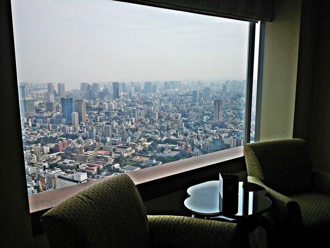 東京一高いビルからの眺望「ザ・リッツ・カールトン東京」