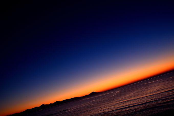 絶景!益田市から見る日本海の夕陽