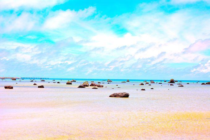 別の惑星に来たような風景!日本の渚百選に選ばれた『佐和田の浜』(伊良部島)