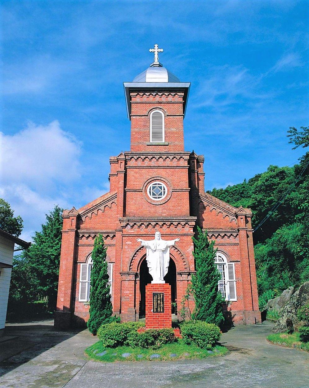 冷水教会、大曽教会も新上五島町教会めぐりの王道コース