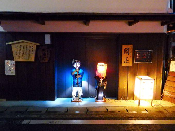湯浅の通りを彩る行灯アートは、一般公募されたもの