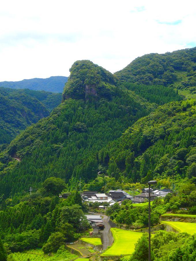 尖った山と棚田の構図がマチュピチュそっくり?