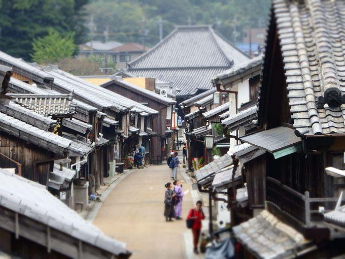 眺関亭からの眺望が、旧東海道関宿の絶景ポイント!