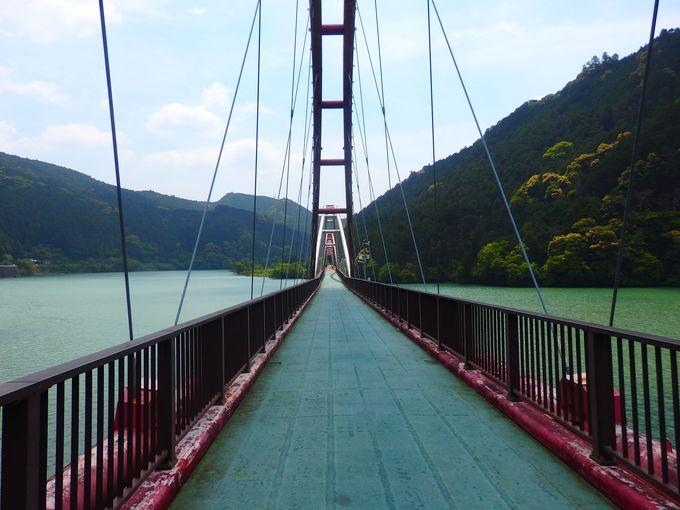近くには国鉄の未成線跡を利用した「夢の架け橋」も