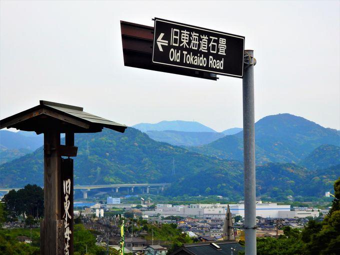 絶景茶畑ウォーキングは旧東海道宿場町、金谷から
