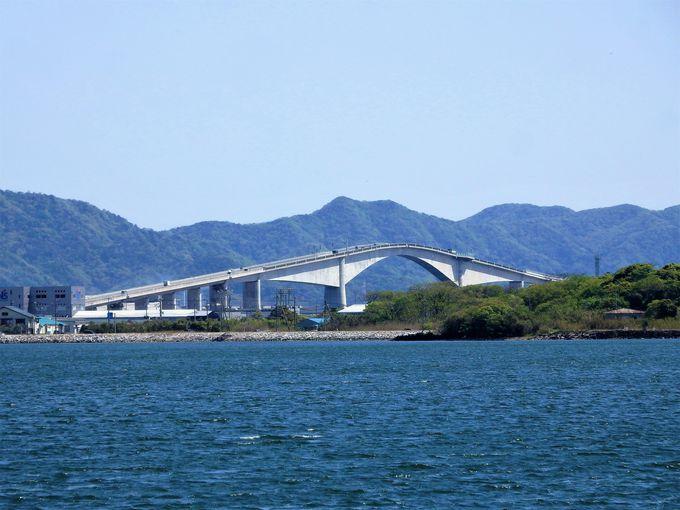 ベタ踏み坂の撮影スポットは、対岸の大根島から!