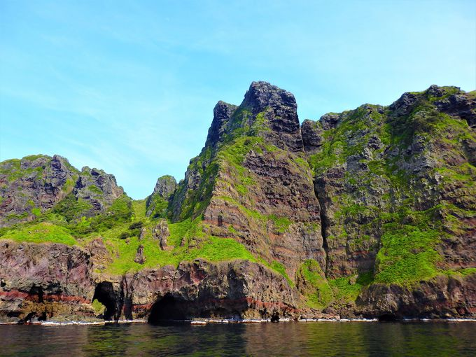 海からの絶景は、国賀めぐり観光定期船から